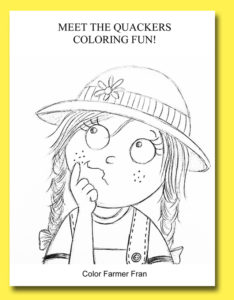 photo of Meet the Quackers coloring fun worksheet