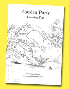 photo of Garden Party coloring fun worksheet
